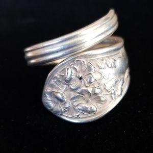 Repurposed Vintage Silverplate Spoon Ring